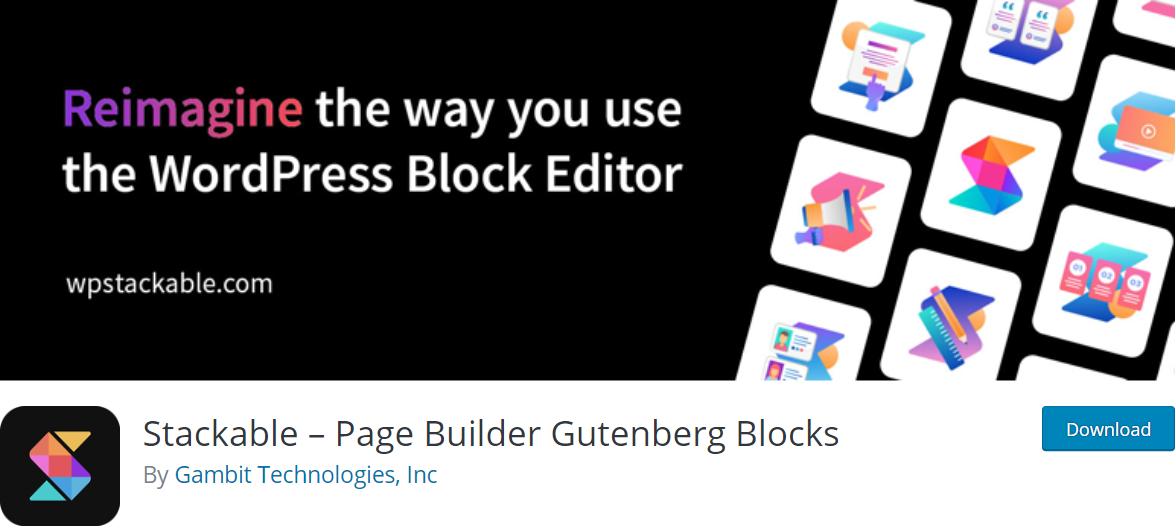 Stackable wordpress gutenberg plugin