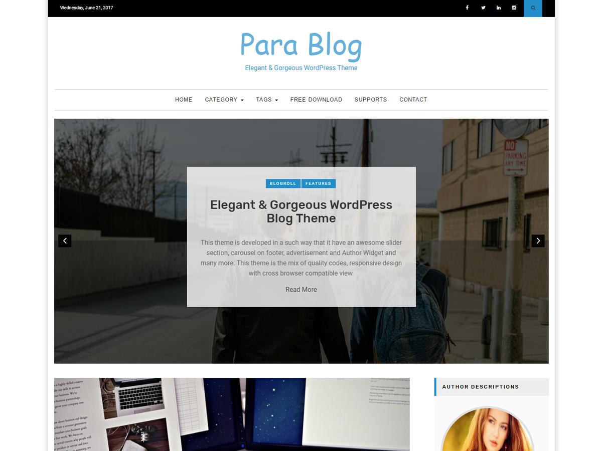 Para Blog – Paragon Themes