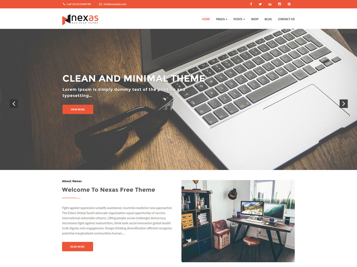 Nexas free wordpress themes for business and corporate website nexas free corporate theme accmission Choice Image